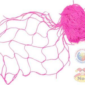 NOE Siť dekorační Růžová na aranžování 5x1m na zavěšování hraček