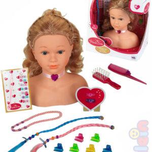 KLEIN Princess Coralie hlava česací kadeřnický set s doplňky v krabici