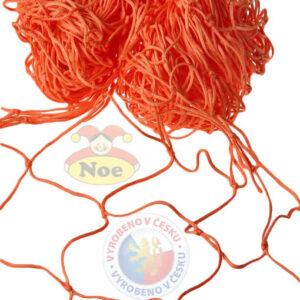 NOE Siť dekorační Oranžová na aranžování 5x1m na zavěšování hraček