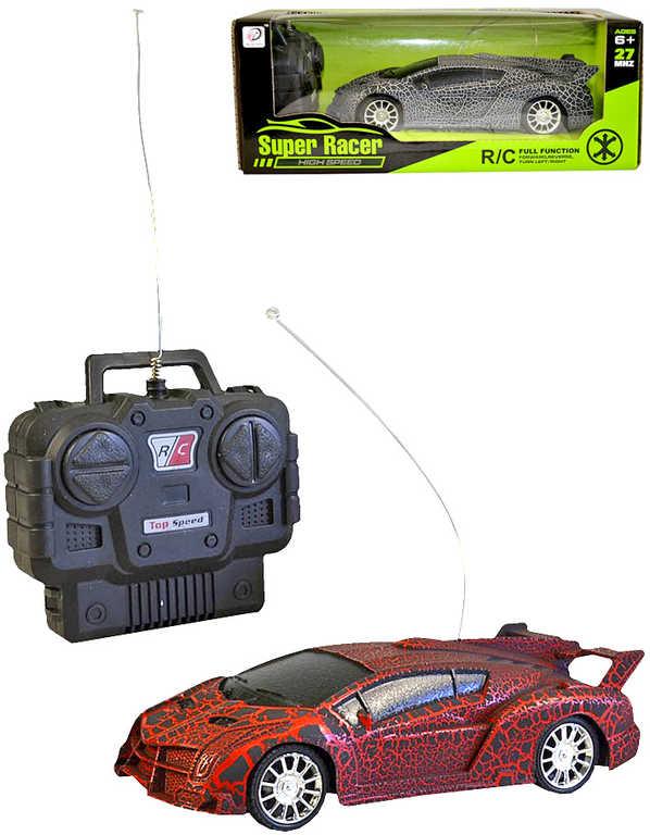 RC Auto sportovní 17cm na vysílačku 27Mhz na baterie různé barvy plná funkce
