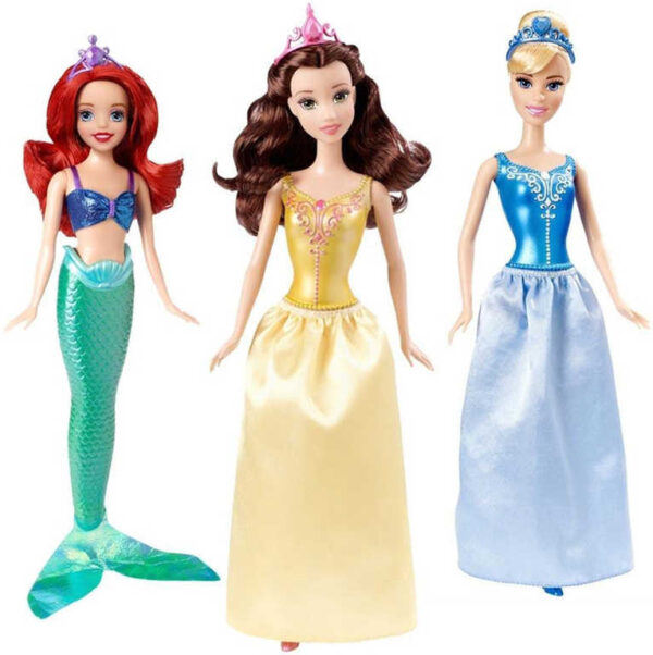 MATTEL Disney princezna 29cm z pohádky 4 druhy