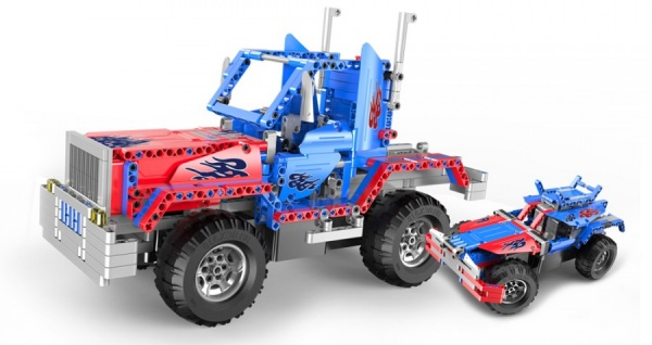 Stavebnice Truck 2v1 - auto na dálkové ovládání