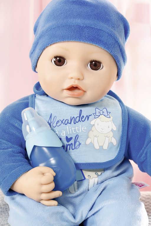ZAPF BABY ANNABELL Panenka miminko Alexander 43cm na baterie Zvuk