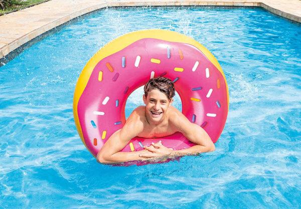 INTEX Kruh nafukovací donut 99cm plavací kolo do vody 56256