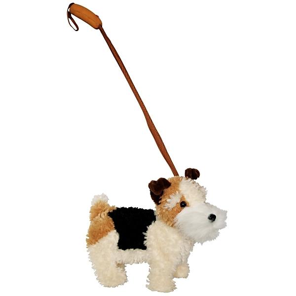 PLYŠ Pes foxterier s voditkem chodící pejsek *PLYŠOVÉ HRAČKY*