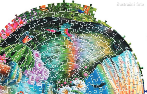 TREFL PUZZLE SPIRAL Znamení zvěrokruhu 68x48cm 1040 dílků skládačka