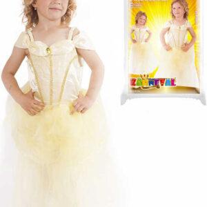 KARNEVAL Šaty Princezna žlutá vel.L (128-150 cm) 8-10 let KOSTÝM
