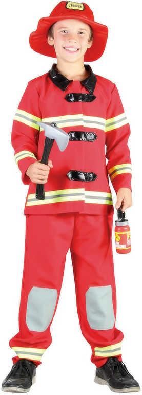 KARNEVAL Šaty Požárník hasič vel.M (120-130cm) 5-9 let KOSTÝM