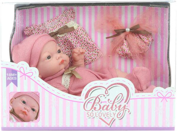 Baby panenka 22cm miminko set s náhradním oblečkem tvrdé tělíčko
