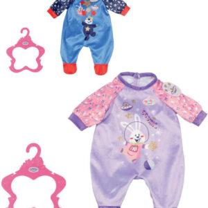 ZAPF BABY BORN Overal sametový narozeninový pro panenku miminko s ramínkem
