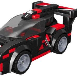 LiNooS Auto sportovní volný chod 156 dílků plast STAVEBNICE