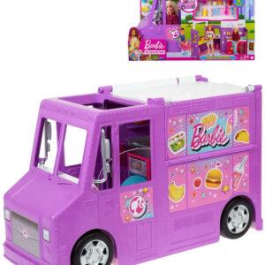MATTEL BRB Barbie restaurace pojízdná herní set auto rozkládací s doplňky