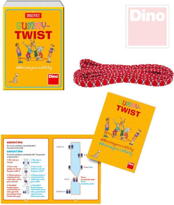 DINO Hra Gummy Twist skákací dětská guma 2