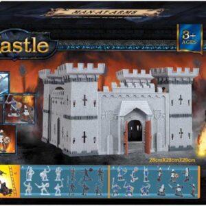Hrad plastový skládací stavebnice set s figurkami a doplňky v krabici 2 druhy