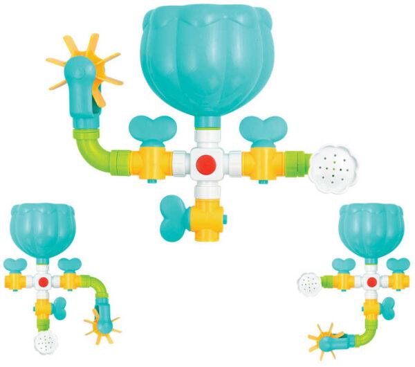 LUDI Baby mlýnek vodní se sprchou dino herní set do vany pro miminko