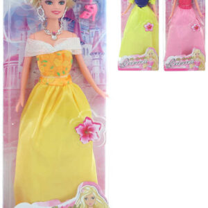 Panenka princezna 30cm plesové šaty 3 druhy v krabičce