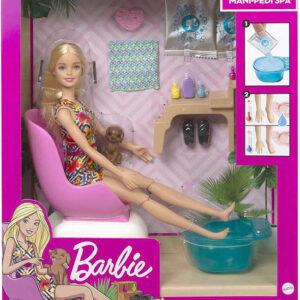 MATTEL BRB Barbie manikúra a pedikúra herní set panenka s doplňky