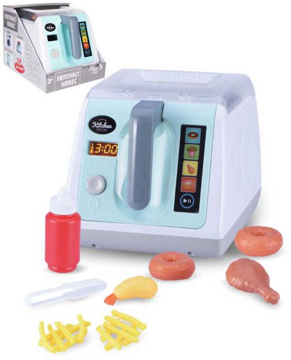 Hrnec dětský fritovací set s potravinami na baterie Světlo Zvuk plast