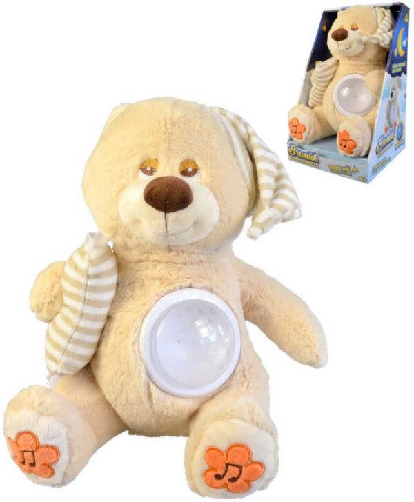 PLYŠ Baby medvídek Brumlík usínáček projektor na baterie Světlo Zvuk