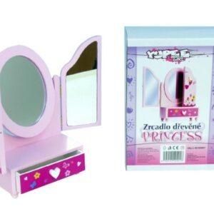 DŘEVO Dětská šperkovnice toaletka se zásuvkou 3 zrcadla *DŘEVĚNÉ HRAČKY*