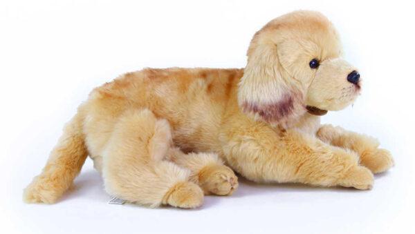 PLYŠ Pes ležící 32cm zlatý retrívr Eco-Friendly *PLYŠOVÉ HRAČKY*