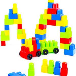 Baby stavebnice barevná Fantasy 2 set 90 dílků v krabici pro miminko
