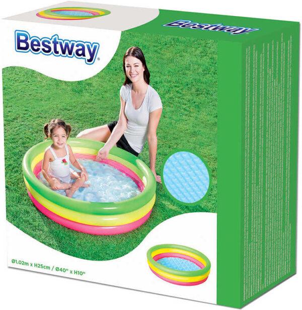 BESTWAY Baby bazének kruhový 102x25cm nafukovací brouzdaliště 51104