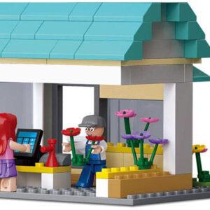 SLUBAN Stavebnice TOWN Květinářství set 149 dílků + figurka 2ks plast