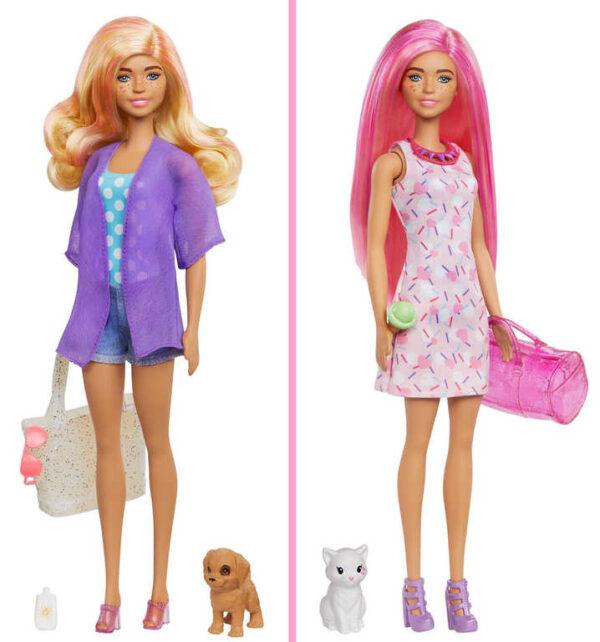 MATTEL BRB Panenka Barbie Color Reveal set se 2 zvířátky 25 překvapení