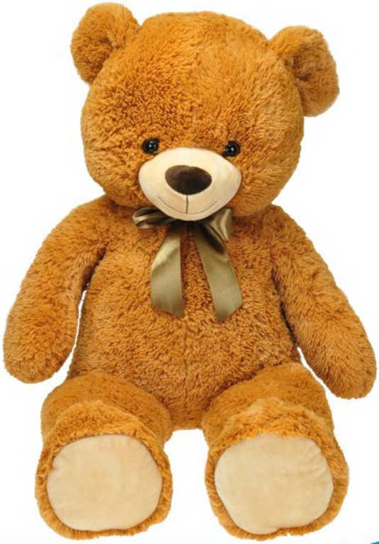 PLYŠ Medvěd s mašlí 90cm hnědý *PLYŠOVÉ HRAČKY*