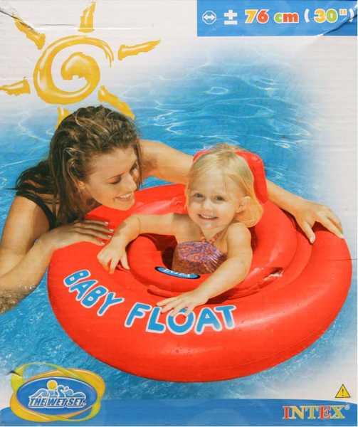 INTEX Baby float červený kruh s otvory na nohy 76 cm tkz. křížem