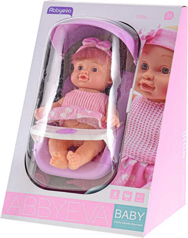 Panenka miminko 24cm v kočárku pije čůrá na baterie set s doplňky Zvuk