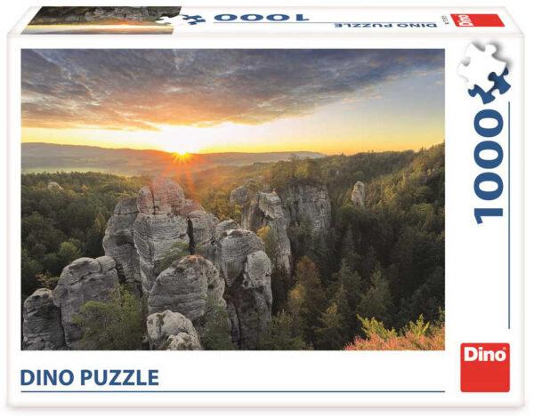 DINO Puzzle 1000 dílků Hruboskalsko Český Ráj 66x47cm skládačka