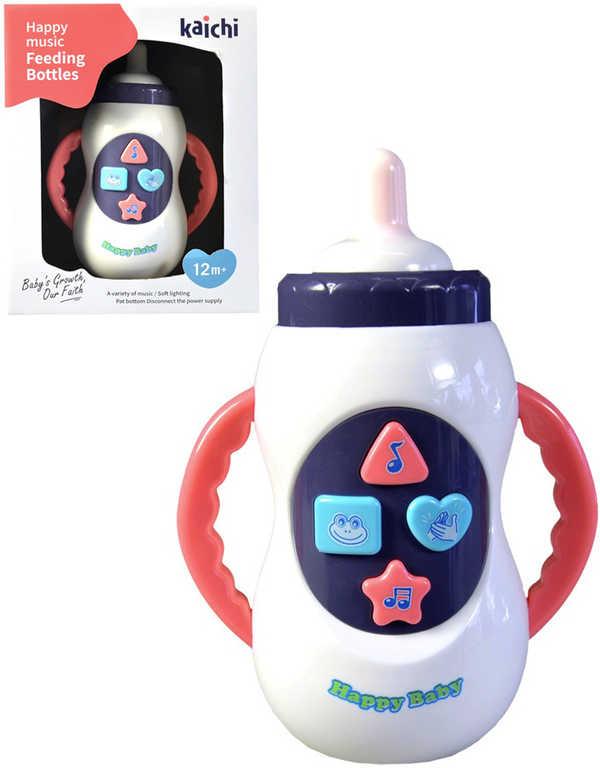 Baby lahvička kojenecká na baterie Světlo Zvuk pro miminko plast