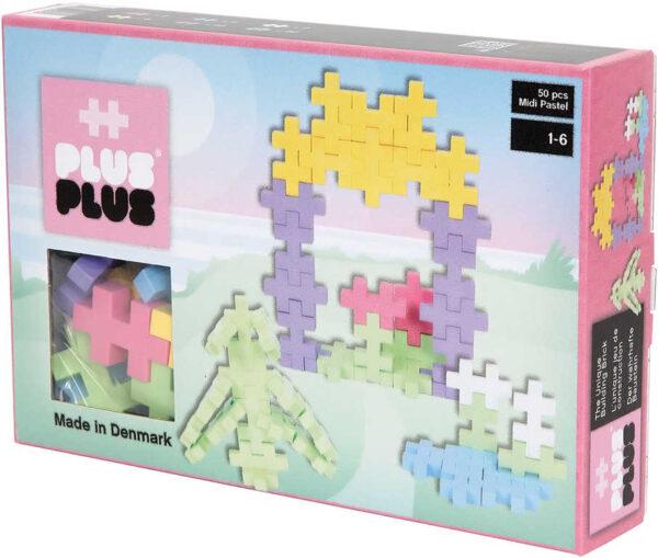 STAVEBNICE Plus-Plus Midi Pastel Altánek 2D/3D set 50 dílků plast