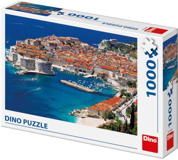 DINO Puzzle1000 dílků Dubrovník Chorvatsko foto 66x47cm skládačka