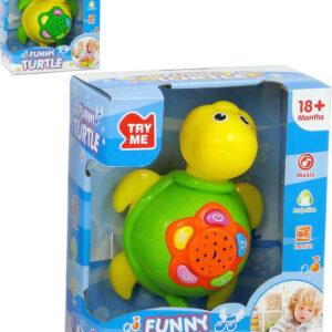 Baby projektor želva na baterie 2 barvy pro miminko plast Světlo Zvuk