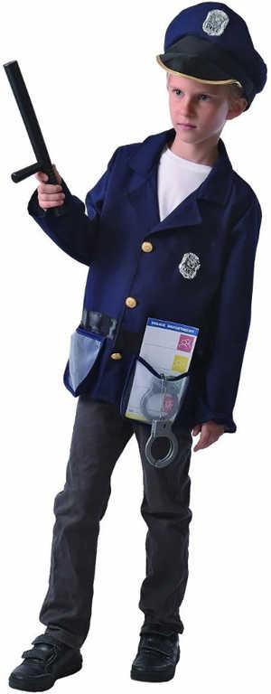 KARNEVAL Šaty policista vel.M (120-130 cm) 5-9 let KOSTÝM