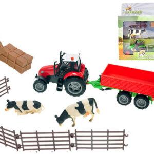 Sada Farma traktor s vlekem a příslušenstvím na baterie