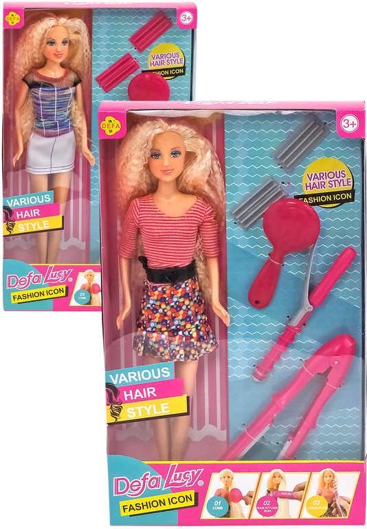 Fashion panenka 29cm set s kadeřnickými potřebami různé druhy