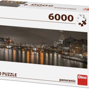 DINO Puzzle panoramatické 6000 dílků Londýn v noci 235x84cm skládačka