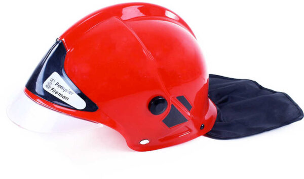 Helma dětská hasičská přilba červená plastová