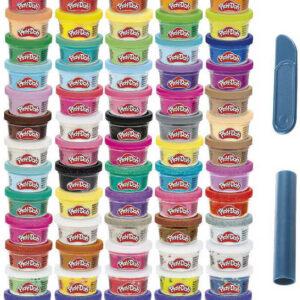 HASBRO PLAY-DOH MEGA barevný set 65 kelímků s modelínou 1