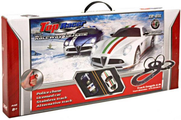 Top Racer autodráha policejní honička 6m 2x auto Alfa Romeo na trafo
