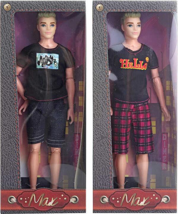 Panáček Max 30cm trendy panák letní obleček 3 druhy v krabici