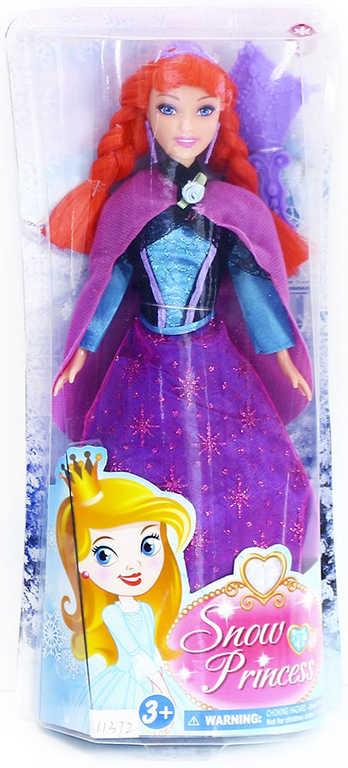 Panenka zimní království princezna 29cm zrzka set s doplňky v krabičce
