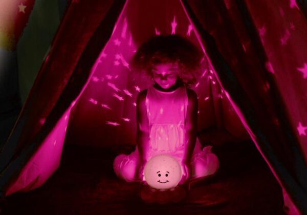 CLOUD B Baby projektor chobotnička na usínání na baterie Světlo pro miminko