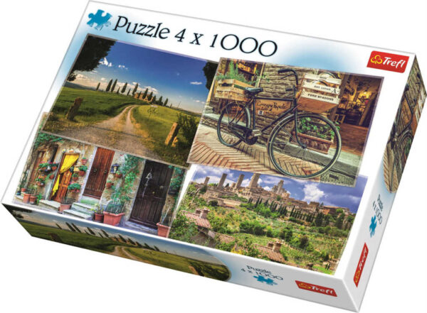 TREFL PUZZLE 4v1 Toskánsko foto 68x48cm 4x1000 dílků skládačka