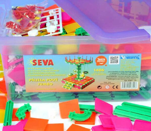 SEVA Jumbo Přijela pouť polytechnická STAVEBNICE v boxu 1486 dílků