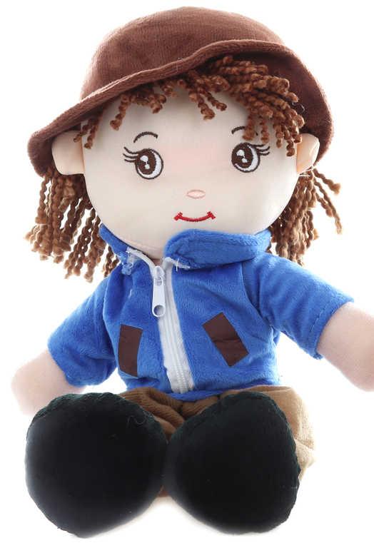 Baby panáček hadrový 35cm textilní panenka kluk s kloboučkem 2 druhy